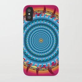 Freedom Mandala - מנדלה חופש iPhone Case