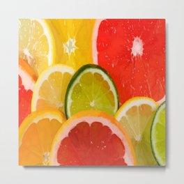 Simply Citrus, Orange Lemon and Mandarin Metal Print