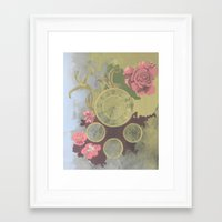 clockwork Framed Art Prints featuring Clockwork by Laura Sturdy