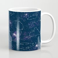 ships Mugs featuring Star Ships by Mandrie