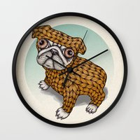 puppy Wall Clocks featuring PUPPY by evafialka