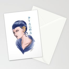 Pisces Sign - Zodiac series by OccultArt Stationery Cards