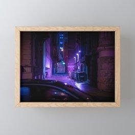 Milwaukee Alley in the Rain 1 Framed Mini Art Print
