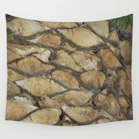 palm tree Wall Tapestries featuring Palm Tree by Marina Scheinost