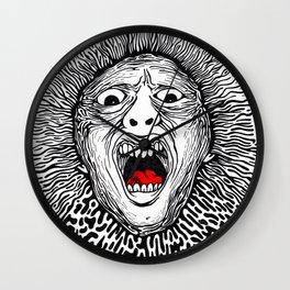 The Scream Wall Clock