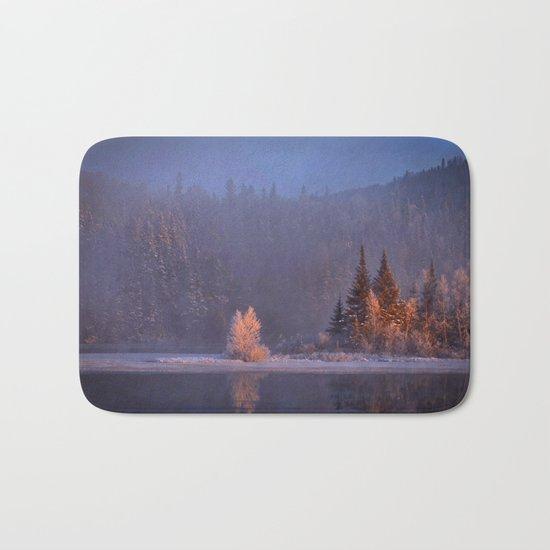 Canadian winter landscape Bath Mat