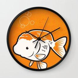 Ranchu Goldfish Wall Clock