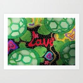 Love Turtles Art Print