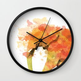Positive elephant Wall Clock