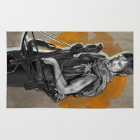 daryl Area & Throw Rugs featuring Daryl Dixon by Yan Ramirez