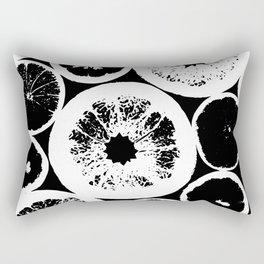 Citrus Black & White Rectangular Pillow