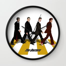 The Doctor who at abbey road iPhone 4 4s 5 5c 6 7, pillow case, mugs and tshirt Wall Clock