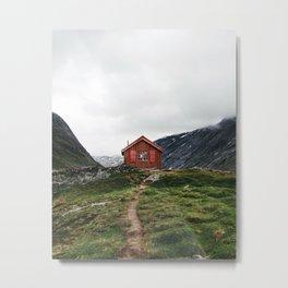 Lone Cabin Metal Print