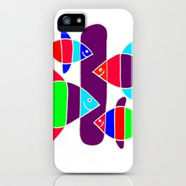 4 Fish - White lines iPhone Case
