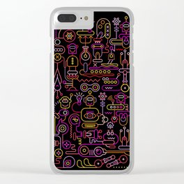 Robot Workshop Clear iPhone Case