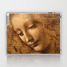 Head of a Woman Painting by Leonardo da Vinci Laptop & iPad Skin