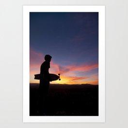 Longboard Silhouette Art Print