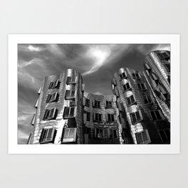 Neuer Zollhof   Architect Frank Gehry   Düsseldorf - Germany Art Print