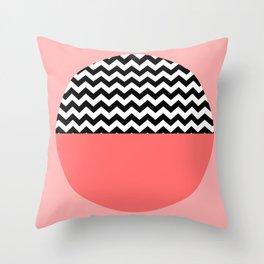Moiety Pink Throw Pillow