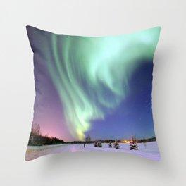 Northern Lights of Alaska Photograph Throw Pillow