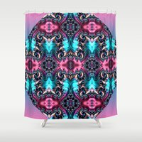 victorian Shower Curtains featuring Victorian Dance by Kimberley Britt