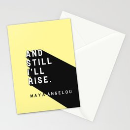 And Still I'll Rise - Maya Angelou Pop Quote Stationery Cards