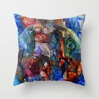 friday Throw Pillows featuring Friday by oxana zaika