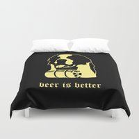 beer Duvet Covers featuring Beer by Andrea Bettin ART