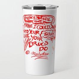 Pierce The Veil Misadventure Lyrics Travel Mug