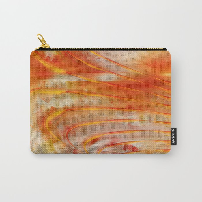 Abstract cubism orange and red Version 2 Carry-All Pouch