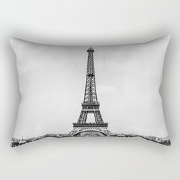Eiffel tower in B&W with painterly effect Rectangular Pillow