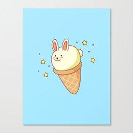 Bunny-lla Ice Cream Canvas Print