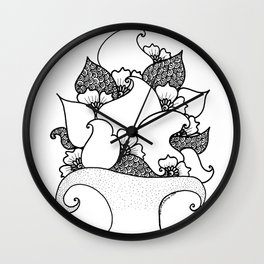 Amphora - White Black Wall Clock
