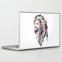 marley Laptop & iPad Skins featuring B Marley Portrait  by Alina N