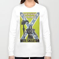 skeletor Long Sleeve T-shirts featuring Vote Skeletor by Itomi Bhaa