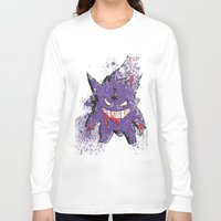 gengar Long Sleeve T-shirts featuring Gengar Mega (dark twist) by Oscar Da Chef Karlsson