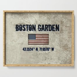 Remembering the Old Boston Garden Serving Tray
