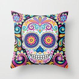Sugar Skull (Cosmos) Throw Pillow