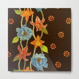 Vintage Flowery Serpentine Metal Print