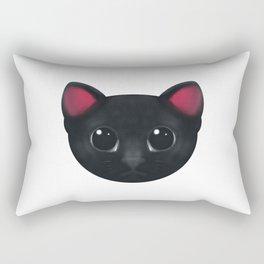 Black Cat Hypnotise Rectangular Pillow