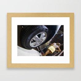 Renault Logan Expression Automatic Wheel Framed Art Print