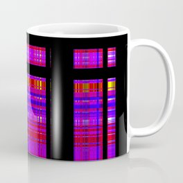 Unicorn Plaid Squares Coffee Mug