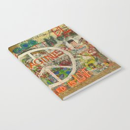 Peace Sign - Love - Graffiti Notebook