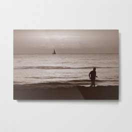 The Boat and the man Metal Print
