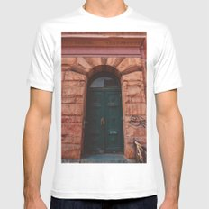 Brooklyn Door IV White MEDIUM Mens Fitted Tee