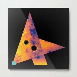 Fox, Exploring Space Metal Print