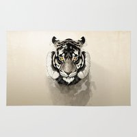 tiger Area & Throw Rugs featuring Tiger by Rafapasta
