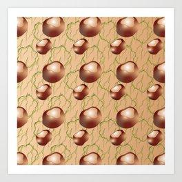 Conker 1-1 Pattern Art Print