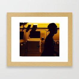 Yellow van Australian man Framed Art Print