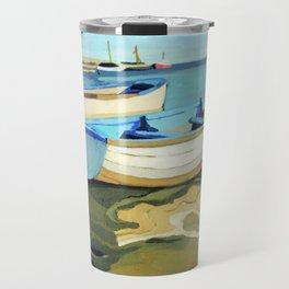 The Blue Boats Travel Mug